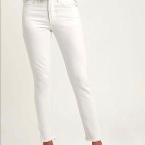 LEVIS 501 High Rise Raw Hem Button-fly Jeans Sz 27